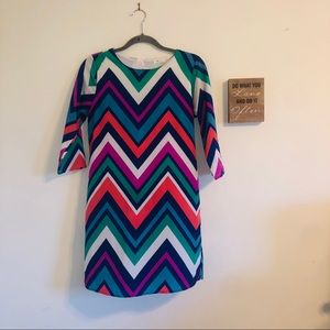 Everly chevron dress size small